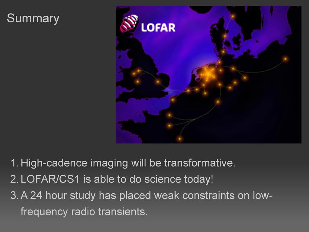 Summary 1.High-cadence imaging will be transfo...