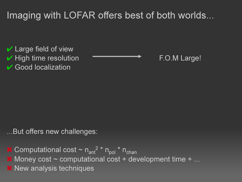 Imaging with LOFAR offers best of both worlds.....