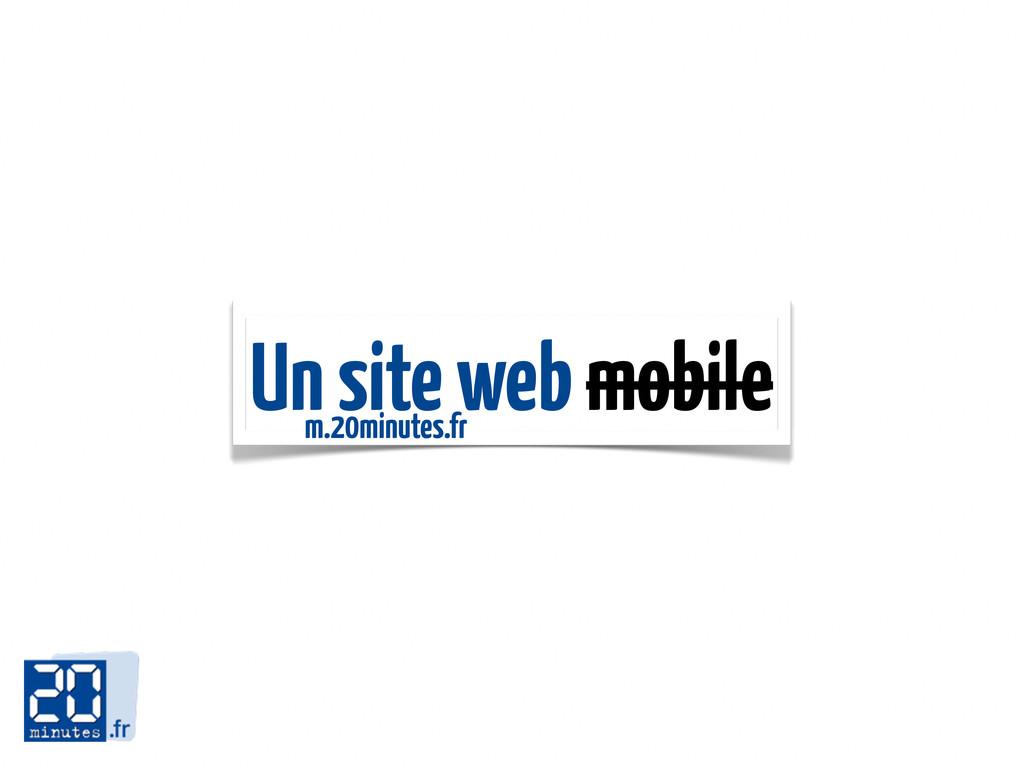 Un site web mobile m.20minutes.fr