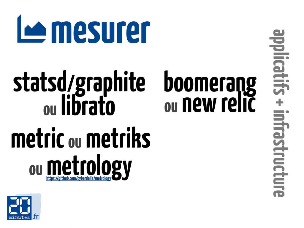 mesurer  applicatifs + infrastructure statsd/g...