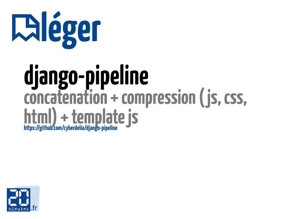 django-pipeline concatenation + compression (js...