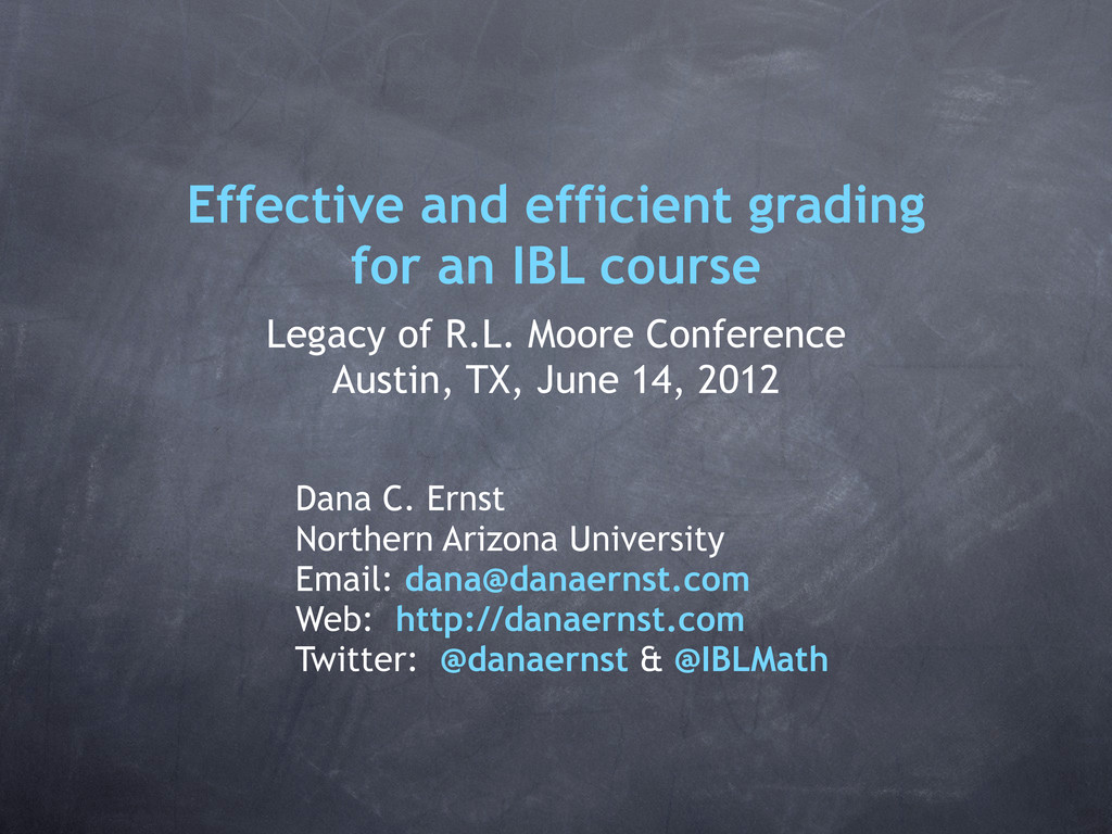 Effective and efficient grading for an IBL cour...