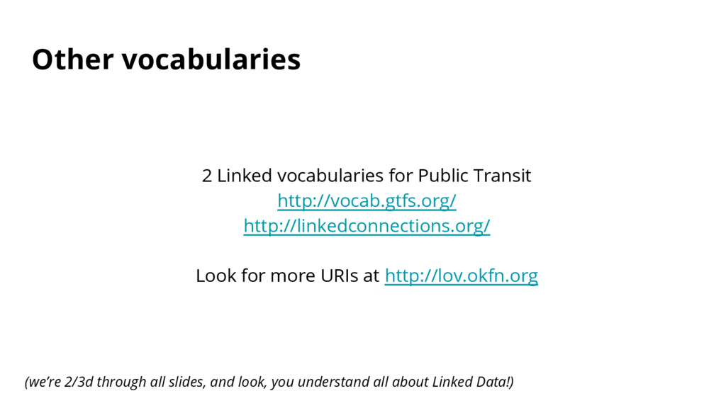 Other vocabularies 2 Linked vocabularies for Pu...