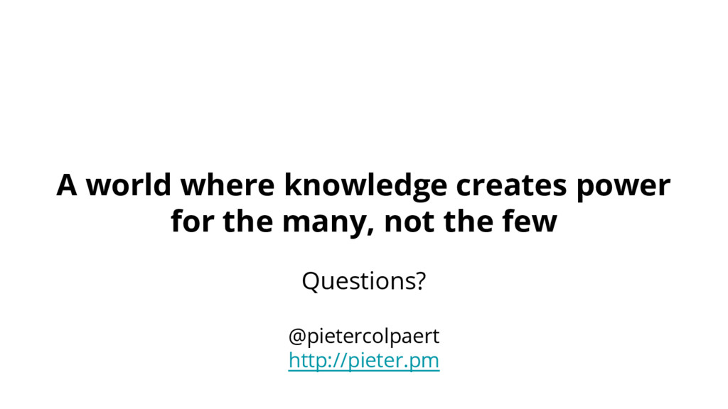 A world where knowledge creates power for the m...