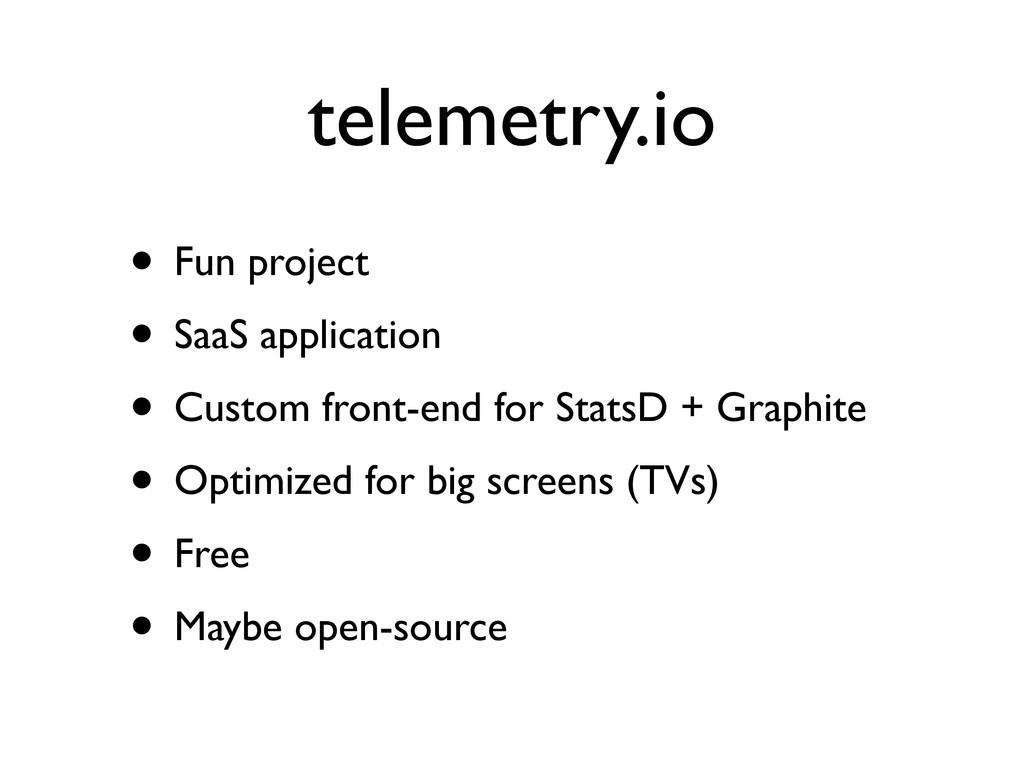 telemetry.io • Fun project • SaaS application •...