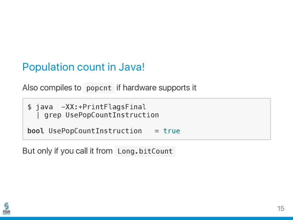 Population count in Java! Also compiles to p o ...