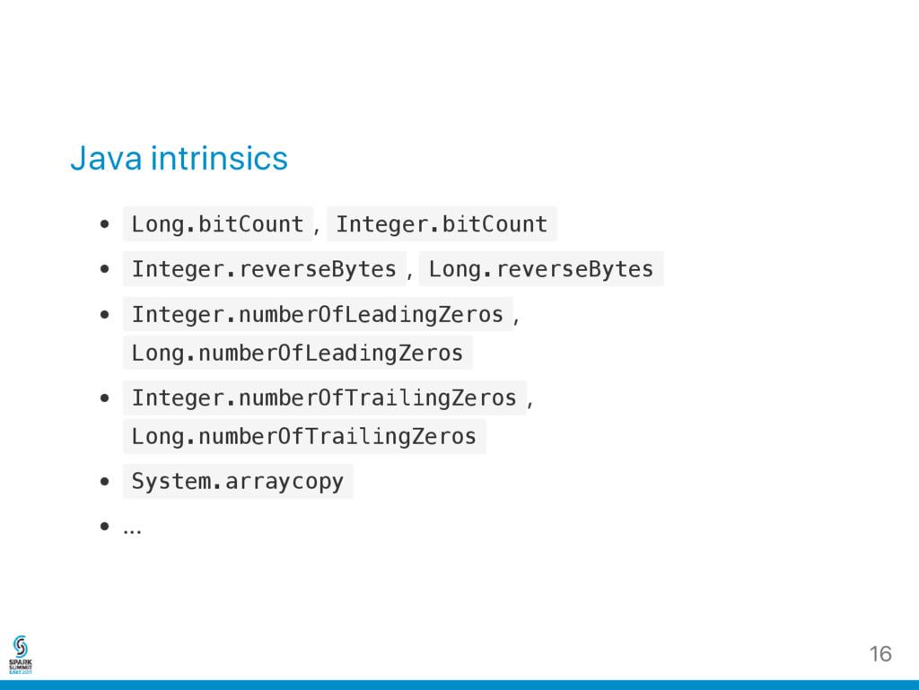 Java intrinsics L o n g . b i t C o u n t , I n...
