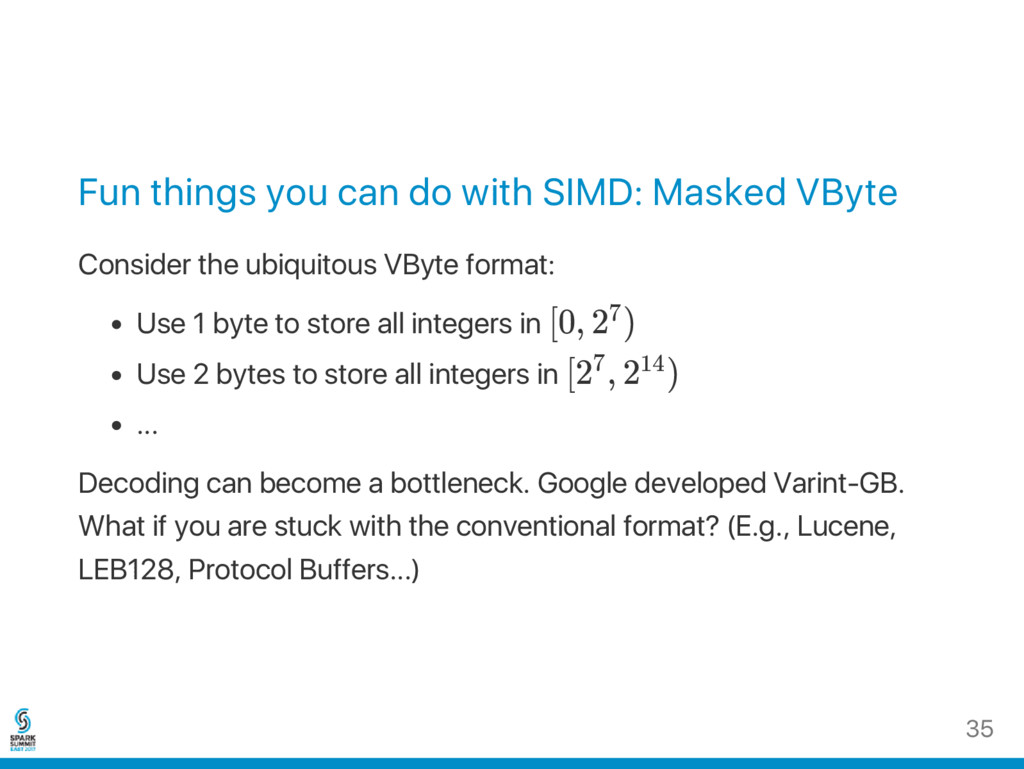 Fun things you can do with SIMD: Masked VByte C...