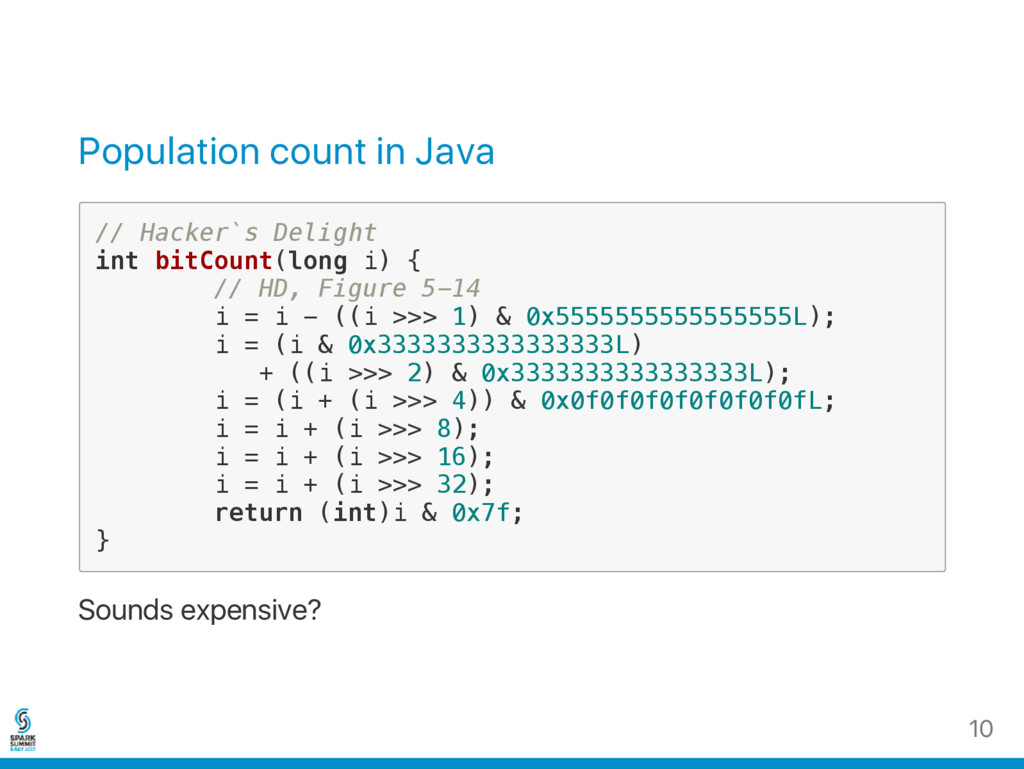 Population count in Java / / H a c k e r ` s D ...