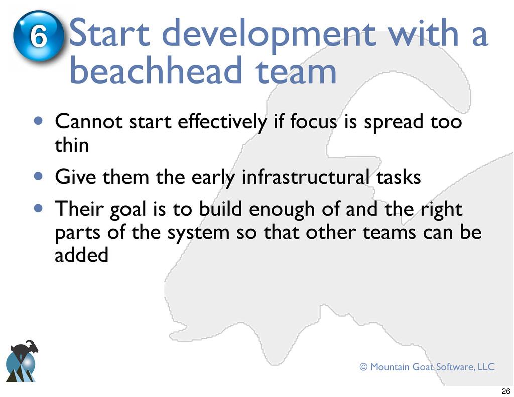© Mountain Goat Software, LLC Start development...
