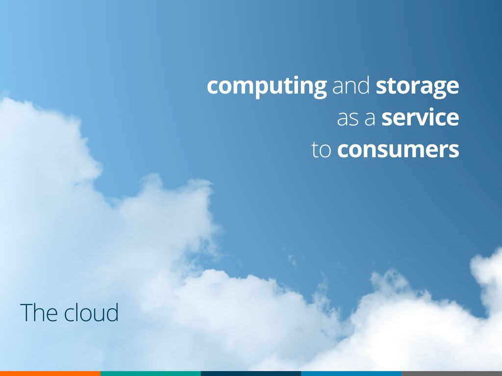 The cloud computing and storage as a service to...