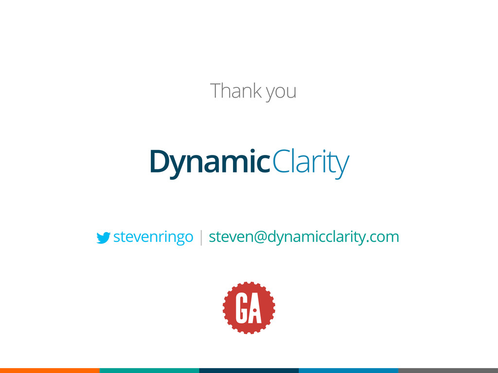 Dynamic Clarity Thank you stevenringo | steven@...