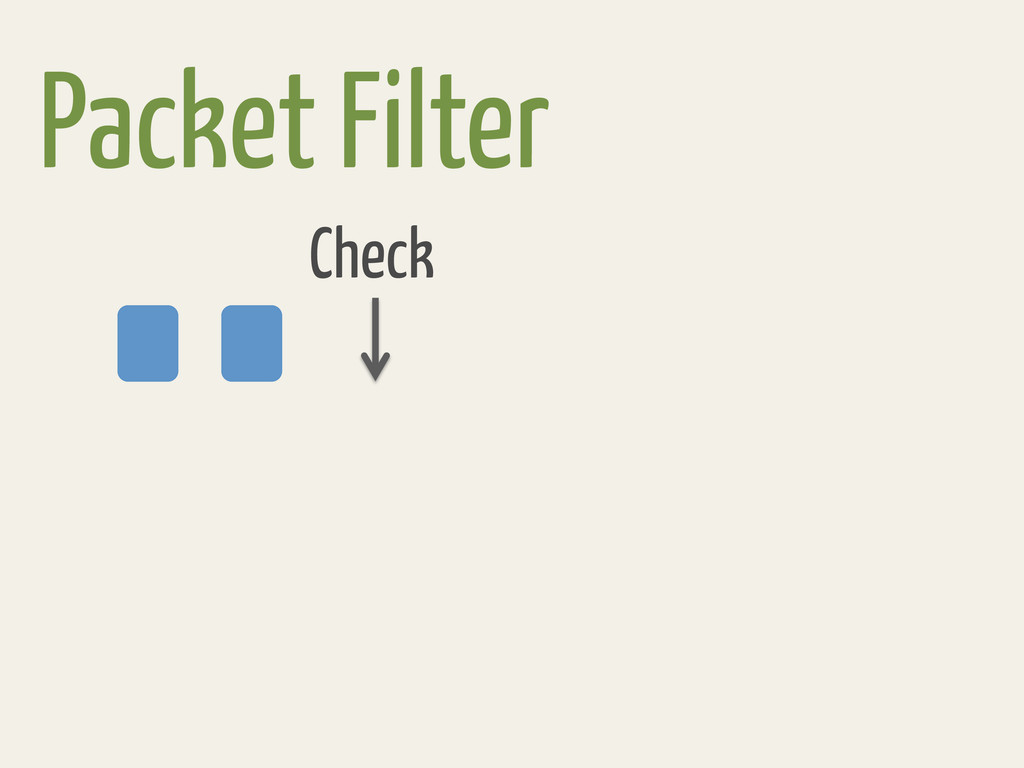 Packet Filter Check