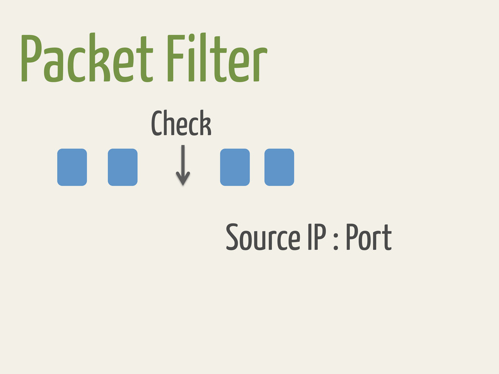 Packet Filter Check Source IP : Port