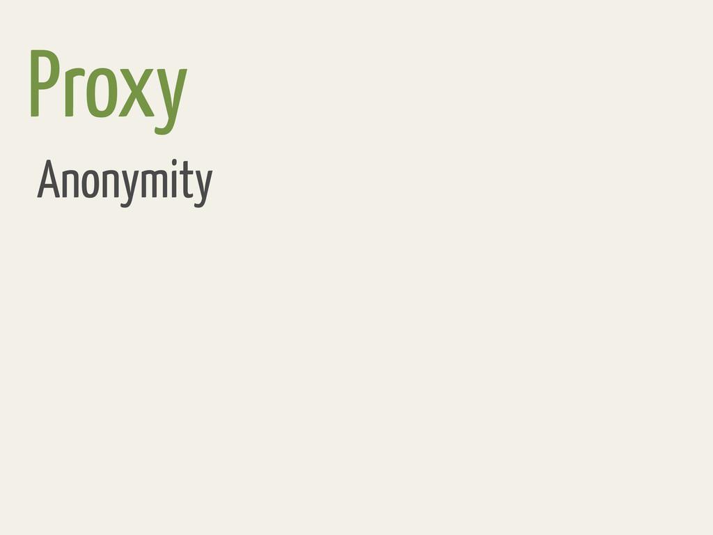 Proxy Anonymity
