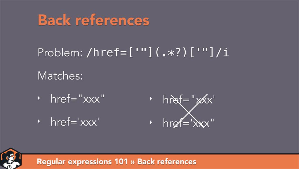 Regular expressions 101 » Back references Probl...