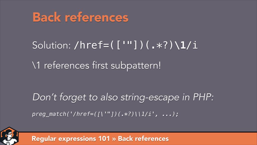 Regular expressions 101 » Back references Back ...