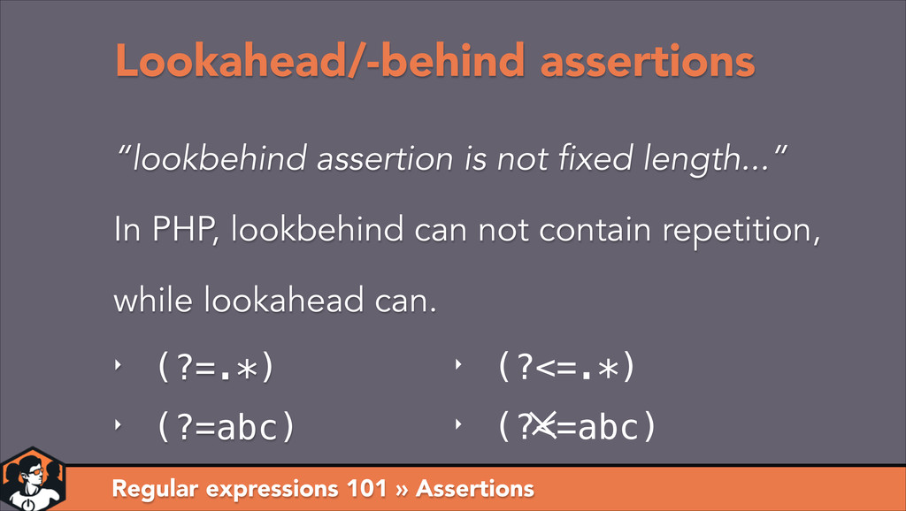 """lookbehind assertion is not fixed length..."" I..."