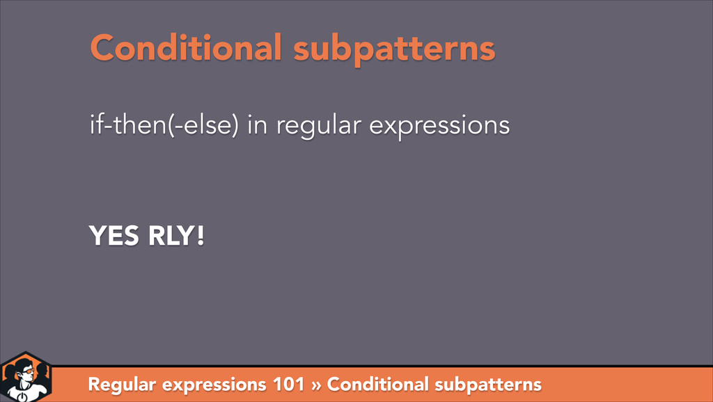 Regular expressions 101 » Conditional subpatter...