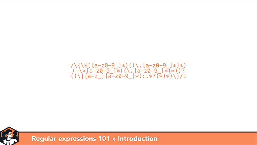 Regular expressions 101 » Introduction /\{\$([a...