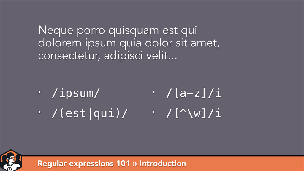 Regular expressions 101 » Introduction Neque po...