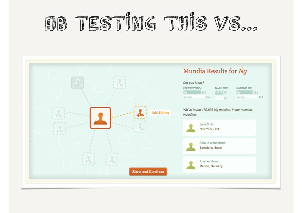 AB Testing this vs...