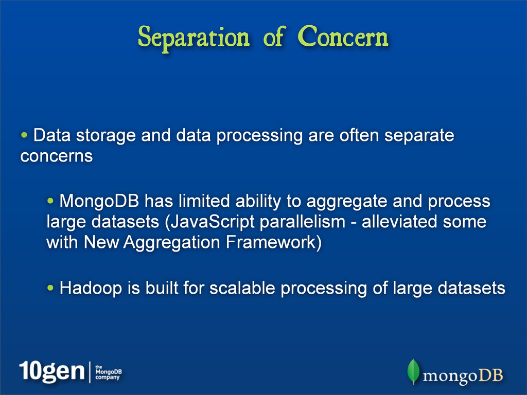Separation of Concern • Data storage and data p...