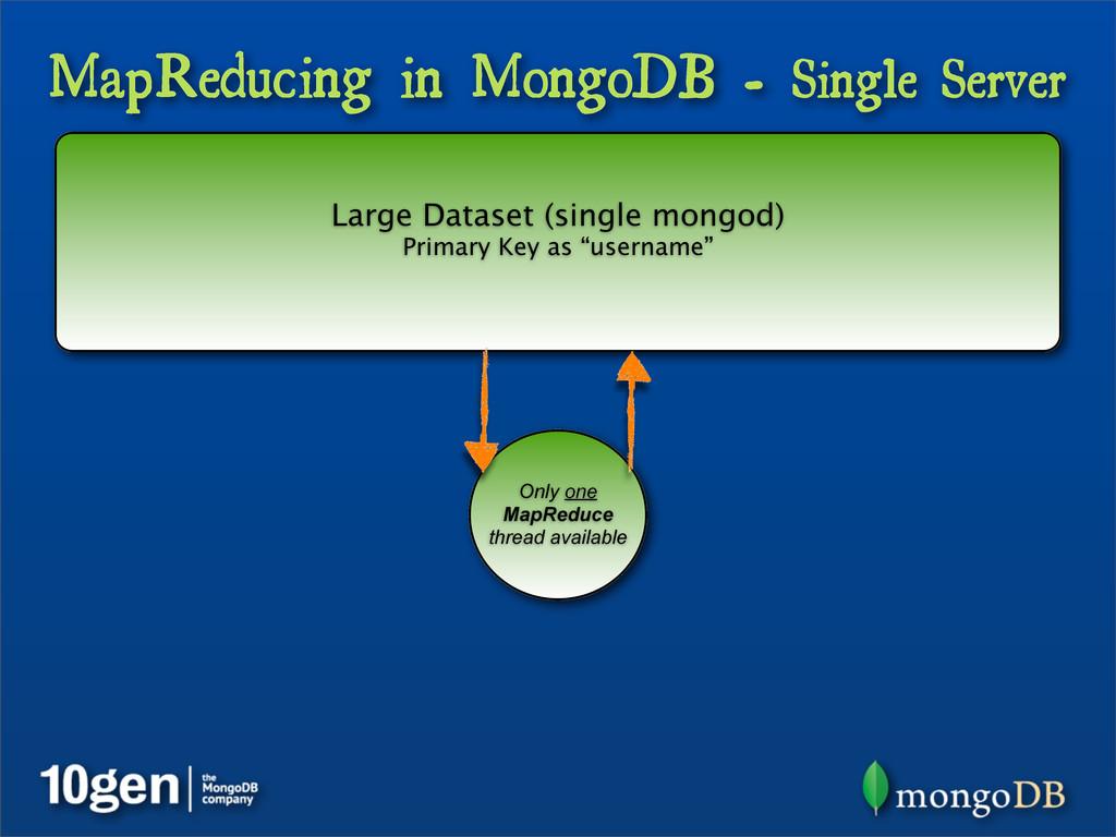 MapReducing in MongoDB - Single Server Large Da...