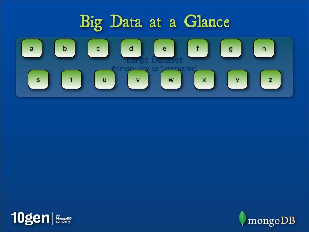 Big Data at a Glance Large Dataset Primary Key ...