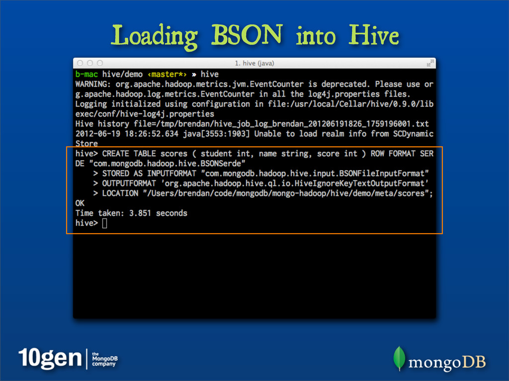 Loading BSON into Hive