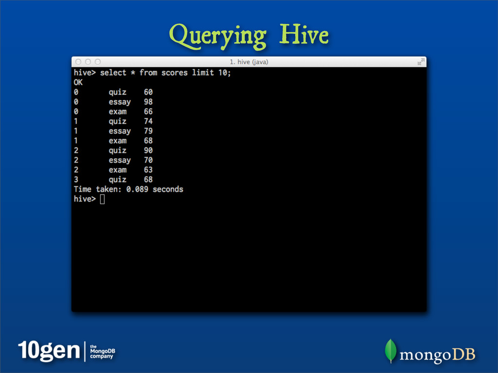 Querying Hive