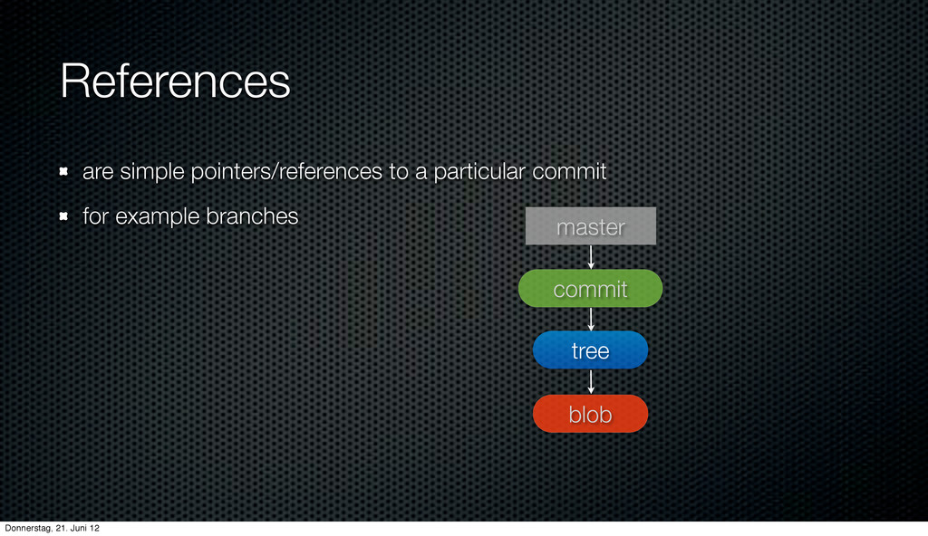 References are simple pointers/references to a ...
