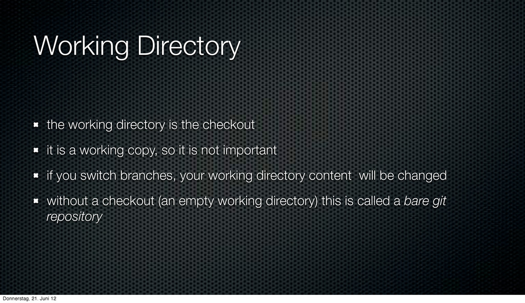 Working Directory the working directory is the ...