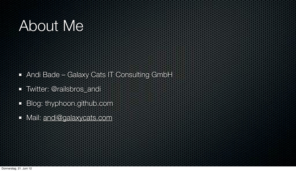 About Me Andi Bade – Galaxy Cats IT Consulting ...
