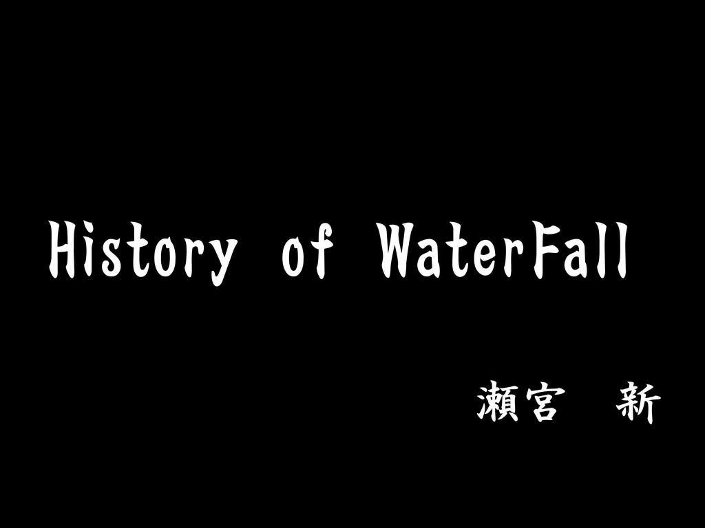 History of WaterFall 瀬宮 新