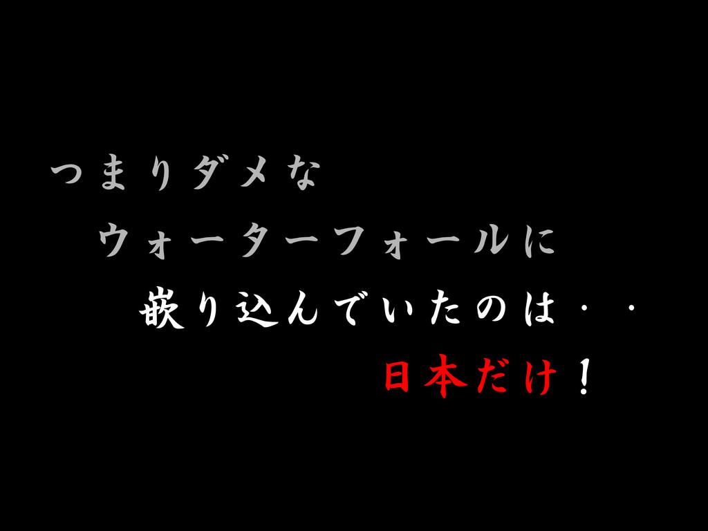 つまりダメな ウォーターフォールに 嵌り込んでいたのは・・ 日本だけ!