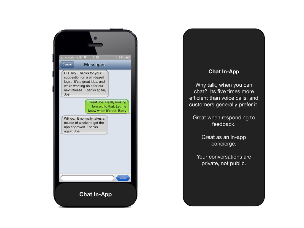 Chat In-App Why talk, when you can chat? Its fiv...