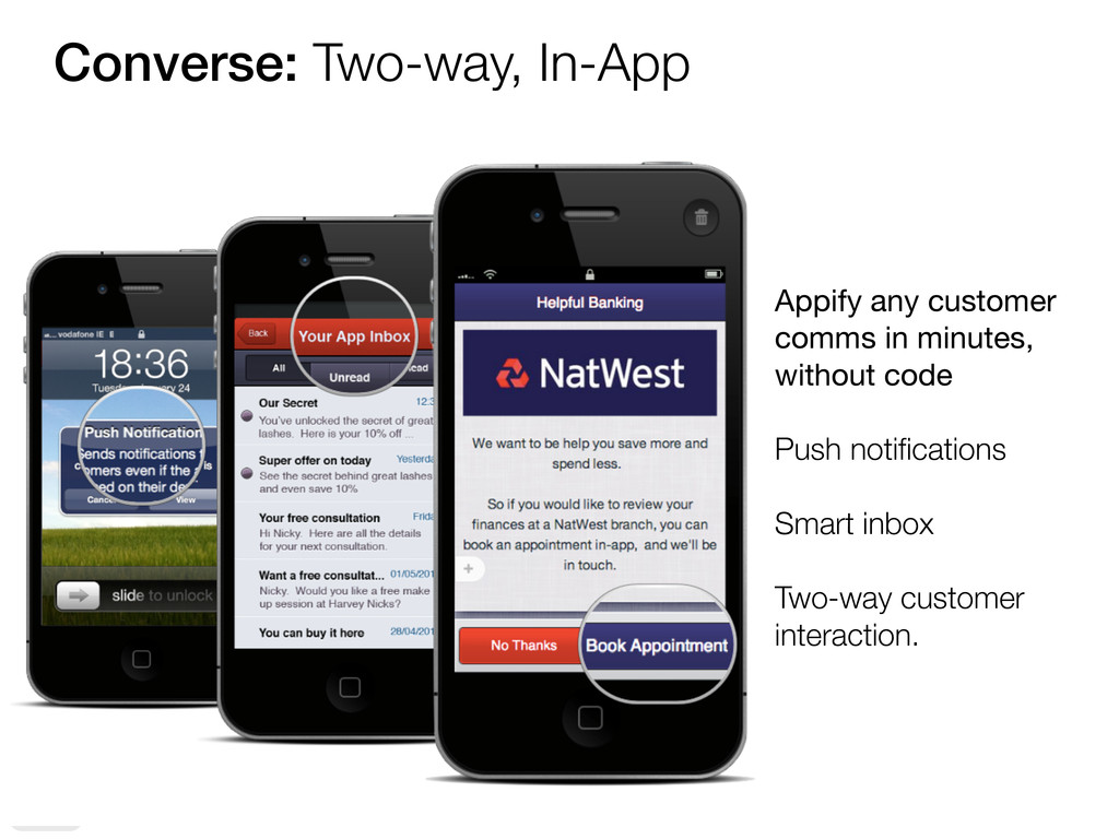 Converse: Two-way, In-App Appify any customer c...