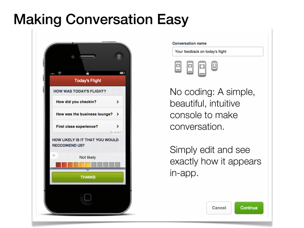 Making Conversation Easy No coding: A simple, b...