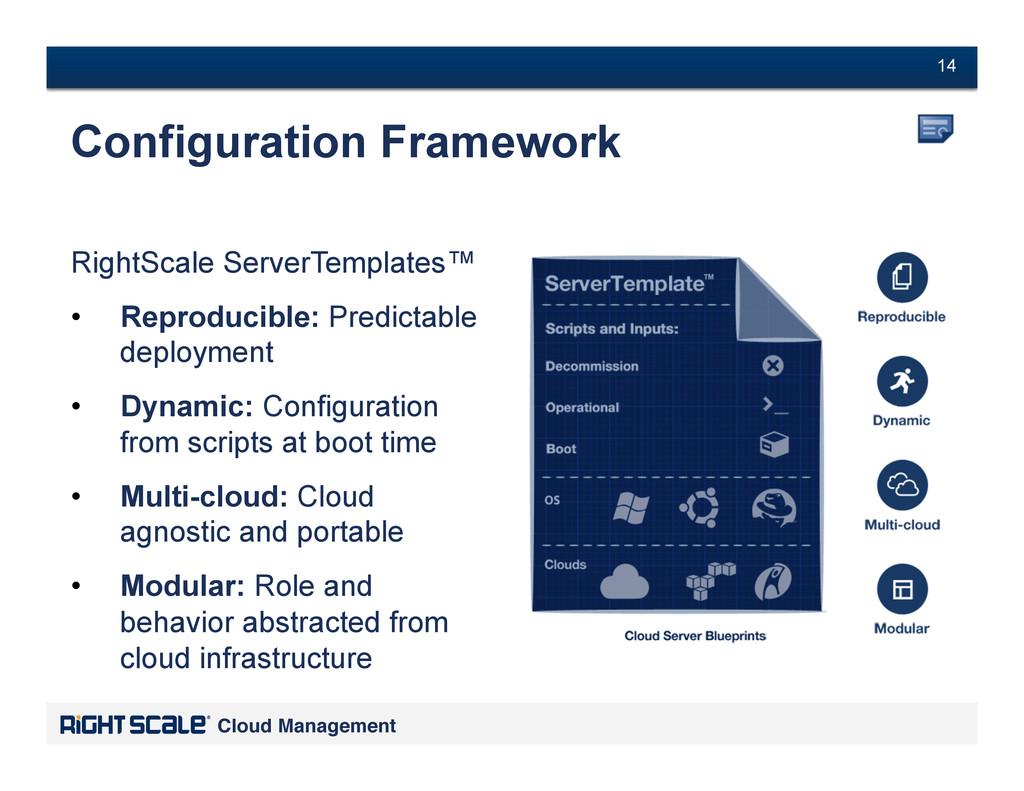 # 14 Cloud Management! # 14 RightScale ServerTe...