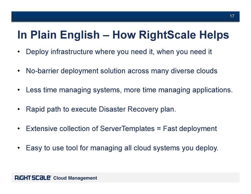 # 17 Cloud Management! # 17 In Plain English – ...