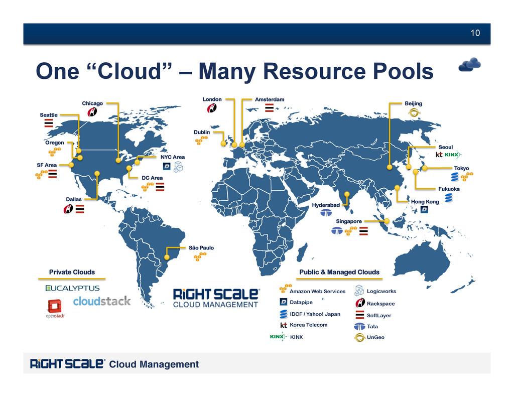 "# 10 Cloud Management! # 10 One ""Cloud"" – Many ..."