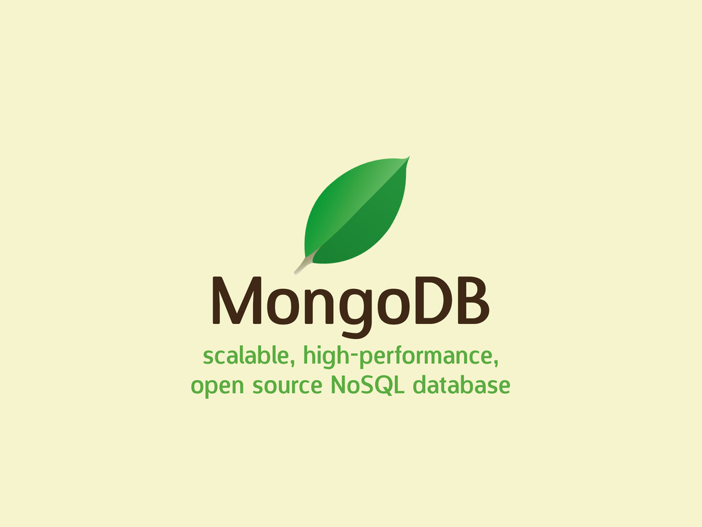MongoDB scalable, high-performance, open source...