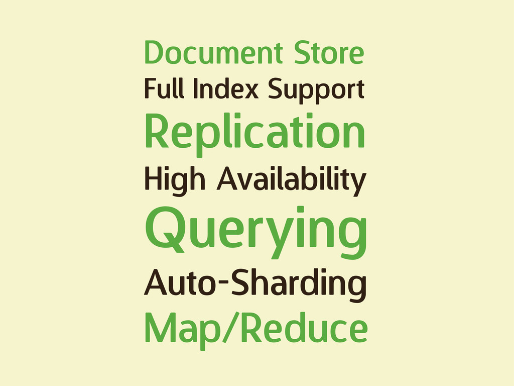 Document Store Full Index Support Replication H...
