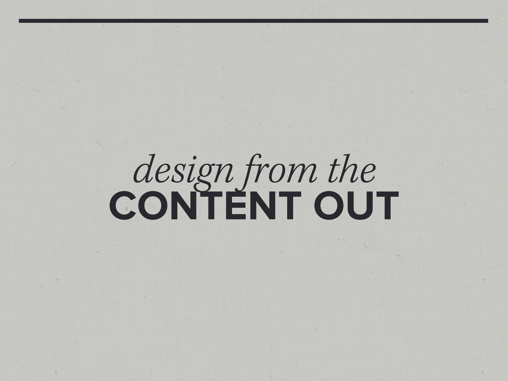 design from the CONTENT OUT