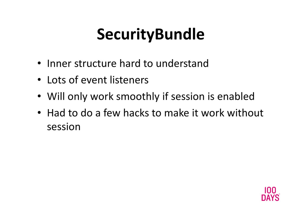 SecurityBundle • Inner structure hard to unders...