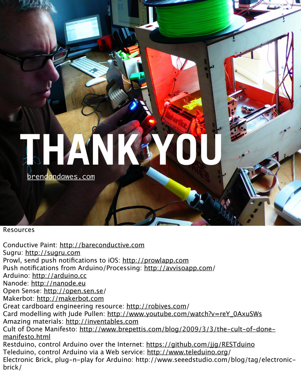 THANK YOU brendandawes.com Resources Conductive...
