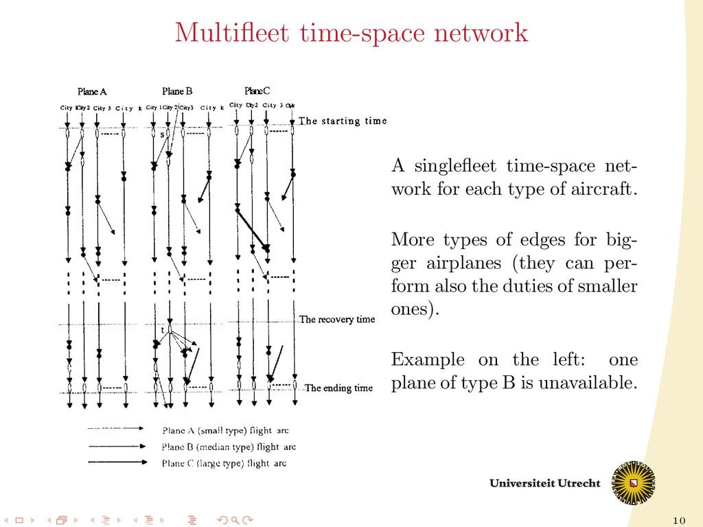 10 Multifleet time-space network A singlefleet ti...