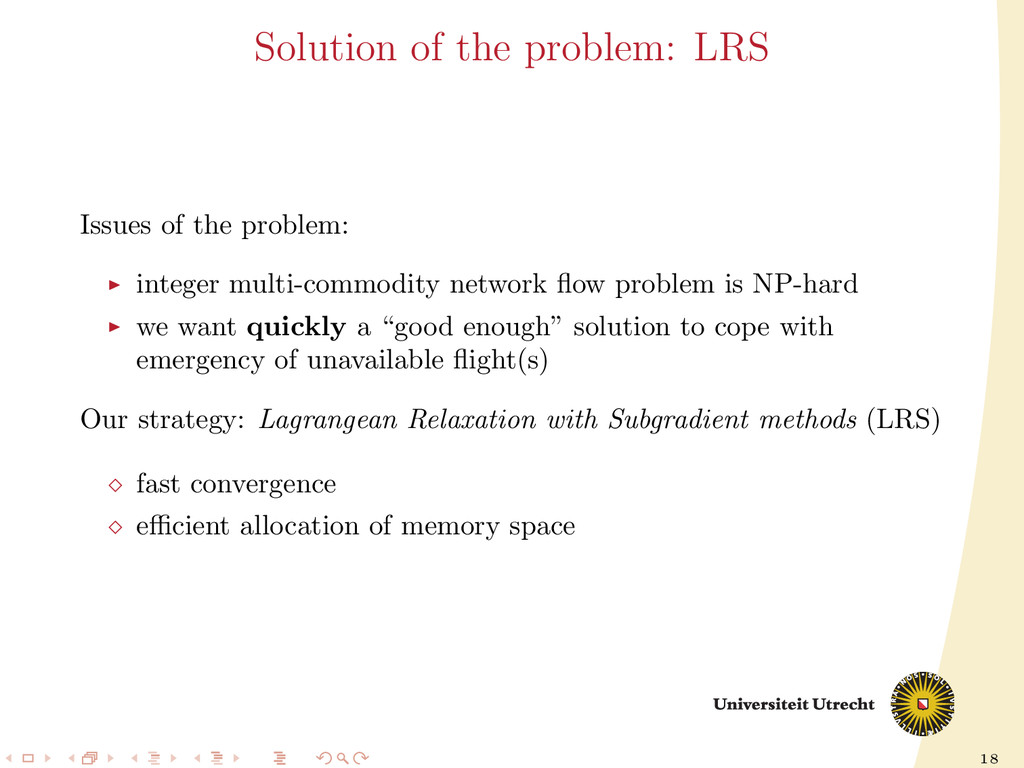 18 Solution of the problem: LRS Issues of the p...
