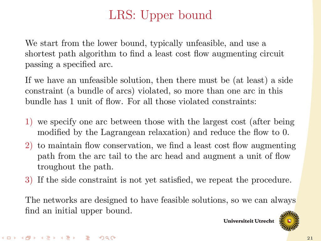 21 LRS: Upper bound We start from the lower bou...